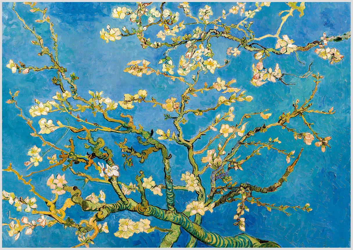 """Das Gemälde """"Blühende Mandelzweige"""" von Vincent van Gogh als Akustikbild-Motiv"""