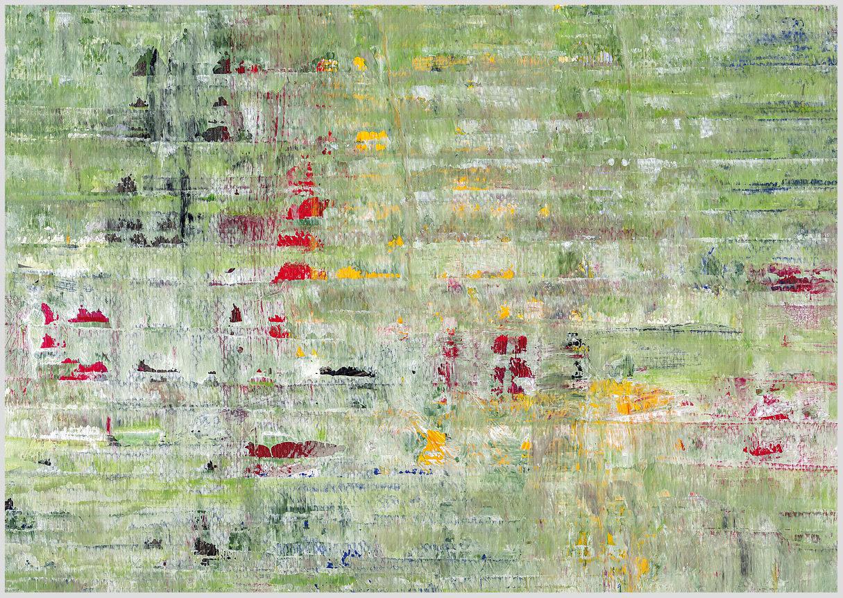 """Das Gemälde """"Nr-7"""" von Ruth Bellon aus dem Akustikbilder Katalog der Firma AkuTec"""