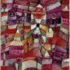 """Das Gemälde """"Rosengarten"""" von Paul Klee aus dem Akustikbilder Katalog der Firma AkuTec"""