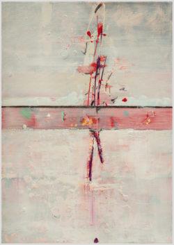 """Das Gemälde """"spleet 4"""" von Annette Zewe aus dem Akustikbilder Katalog der Firma AkuTec"""