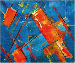 "Das Gemälde ""Nr. 13"" von Steve Johnson aus dem Akustikbilder Katalog der Firma AkuTec"