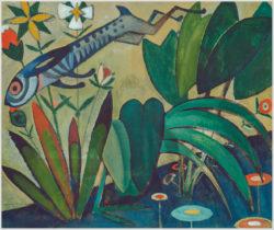 """Das Gemälde """"Der Sprung des Hasen"""" von Amadeo de Souza Cardos aus dem Akustikbilder Katalog der Firma AkuTec"""