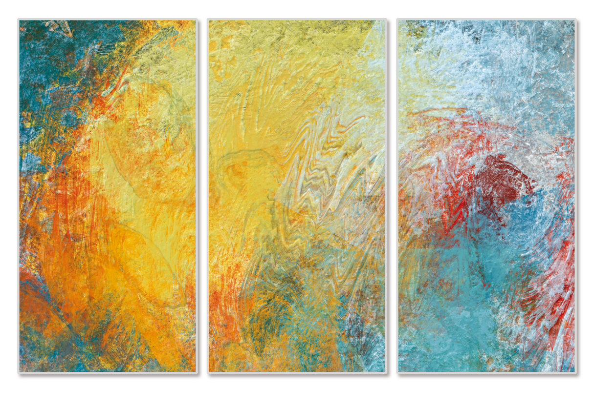 """Das Motiv """"JC09-Triptychon"""" von Guido Mayr aus dem Akustikbilder Katalog der Firma AkuTec"""