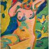 """Das Gemälde """"Mädchen auf blühender Wiese"""" von Ernst Ludwig Kirchner aus dem Akustikbilder Katalog der Firma AkuTec"""